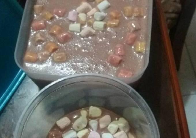 Homemade rockyroad icecream