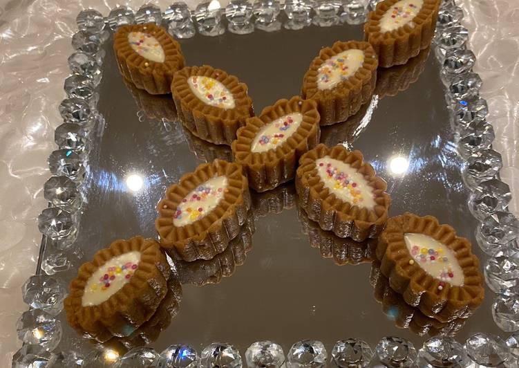 Nutella fudge with white chocolate