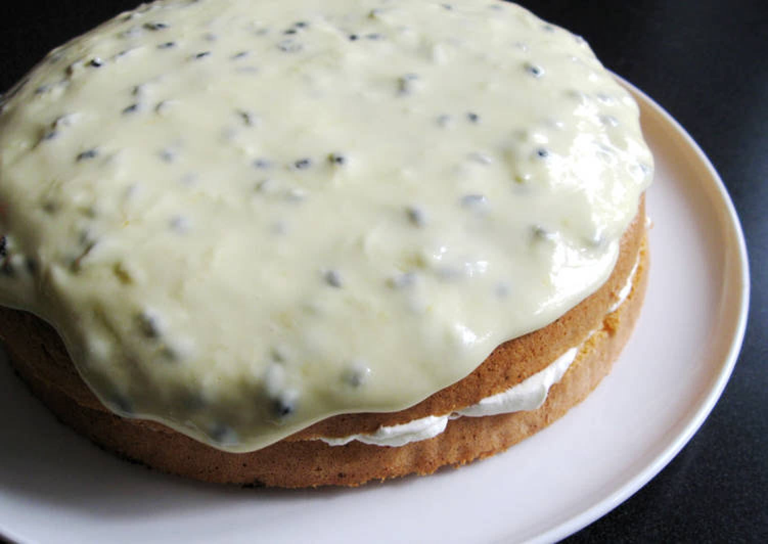 Simple Sponge Cake with Passionfruit Icing