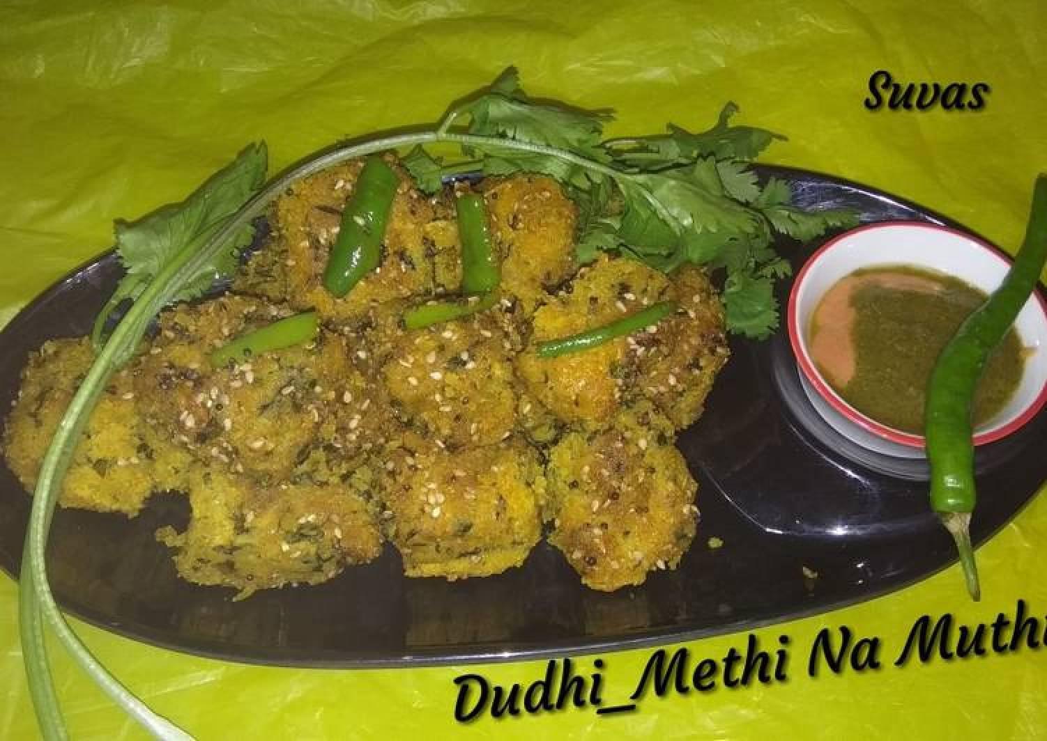 Dudhi (bottlegourd) And Methi (fenugreek) Muthiya