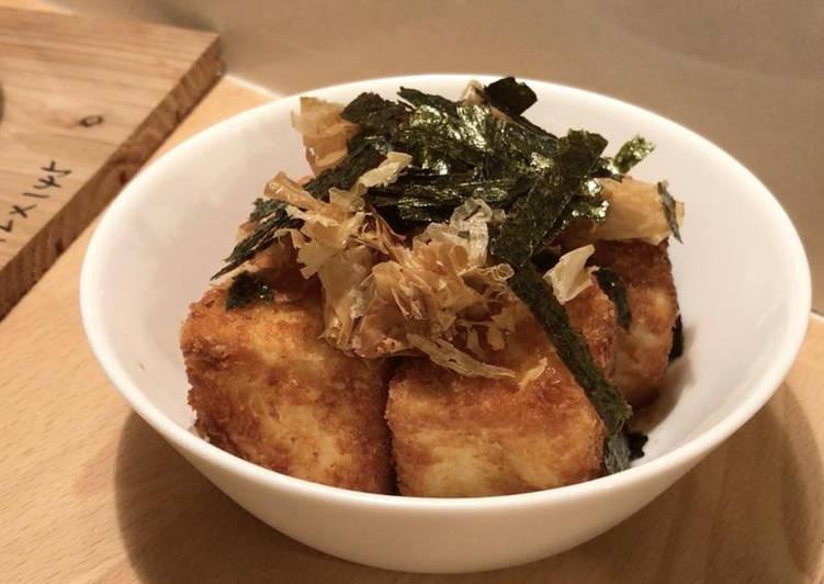 Pan fried crispy Japanese agedashi tofu