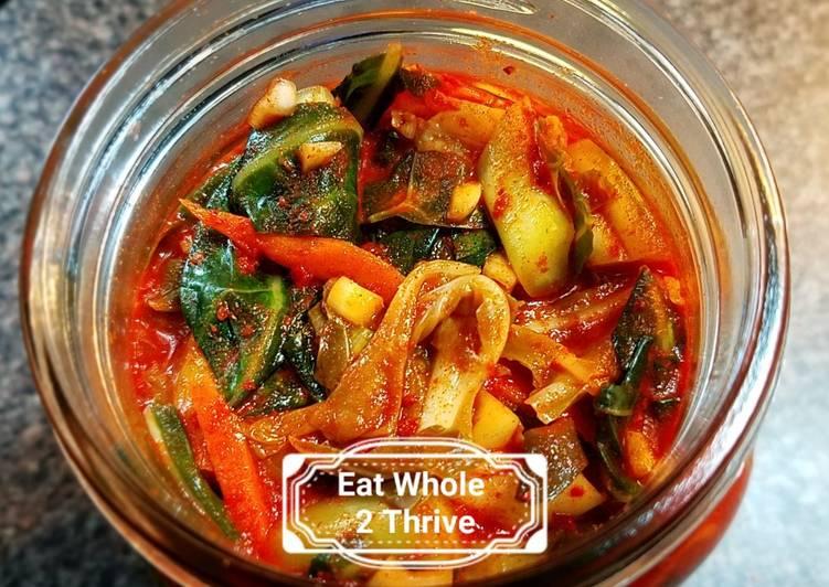 Spicy Collard Kimchi/lacto-fermentation