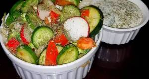 Mikes Super Simple Side Cucumber Dill Salad
