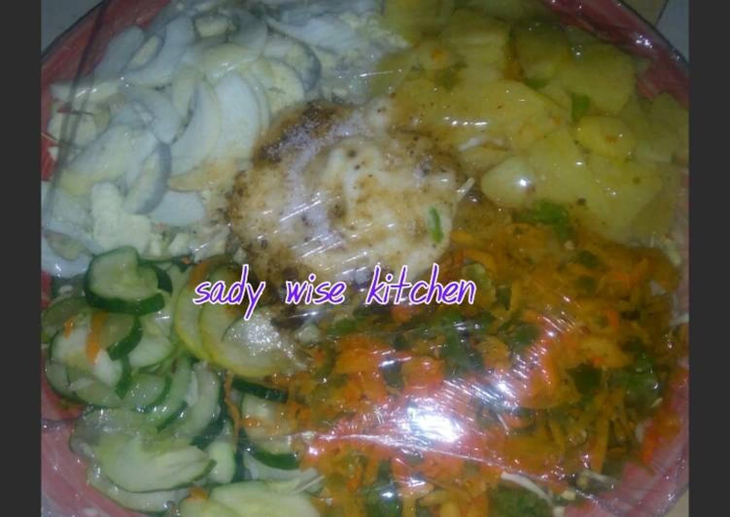 Potato With Lettuce Salad