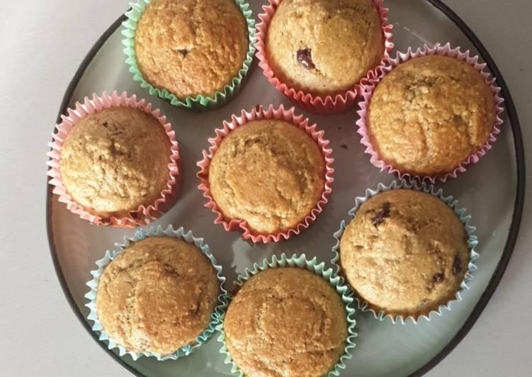 Muffins banane sans beurre