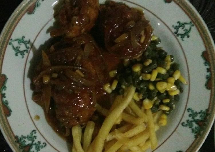 Chicken Steak Bumbu Lada Hitam