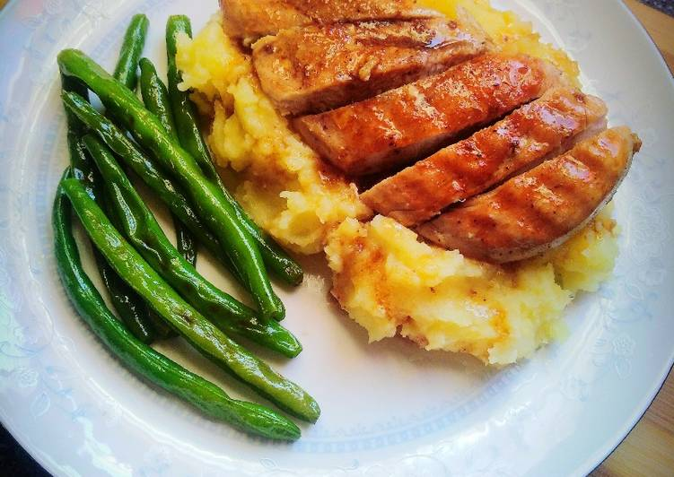 Pan fried chicken breast