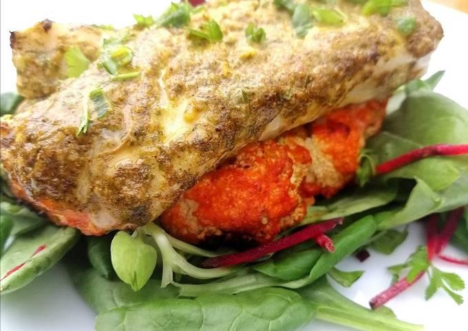 Easiest Way to Make Award-winning Roasted chermoula cod on a harrisa cauliflower steak