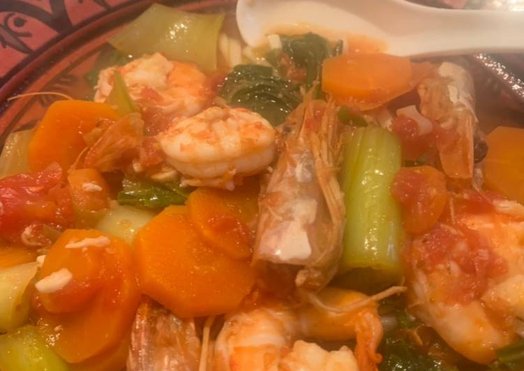 East Asian Seafood Noodles