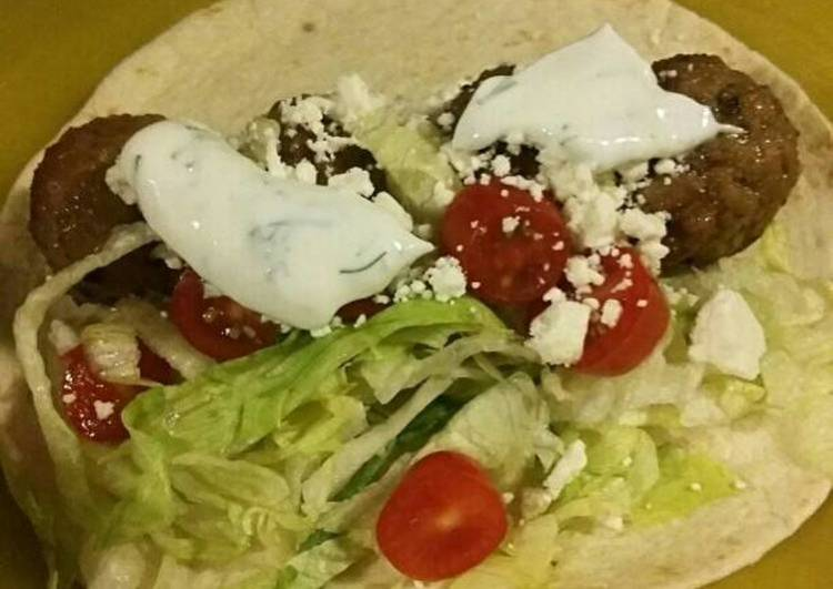 Quick & Easy Greek Themed Meatballs with lemon-dill sauce