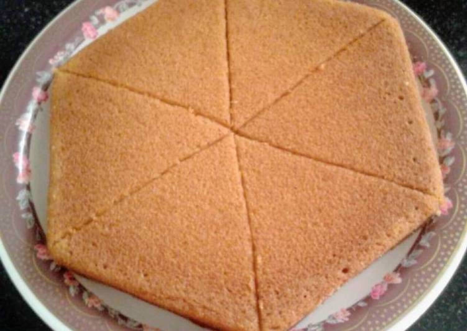 Eggless papaya sponge cake