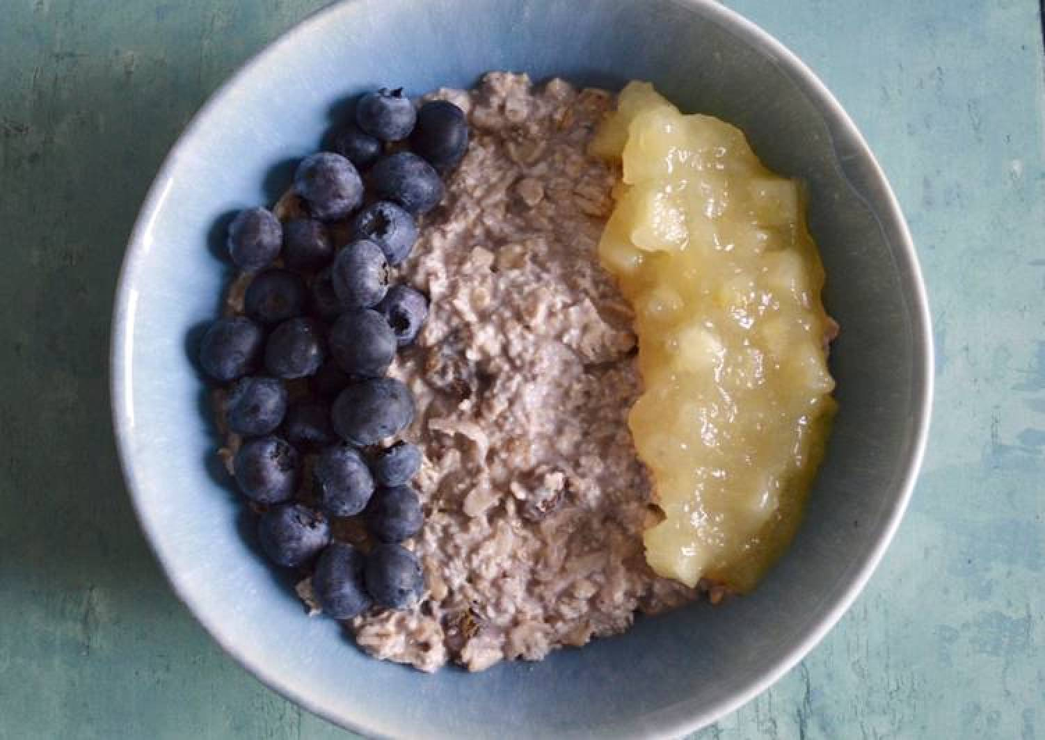 Apple and Blueberry Bircher