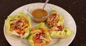 Asian Shrimp Salad Lettuce Wraps