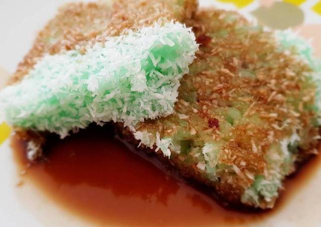 Kuih Lopes | Coconut Glutinous Rice