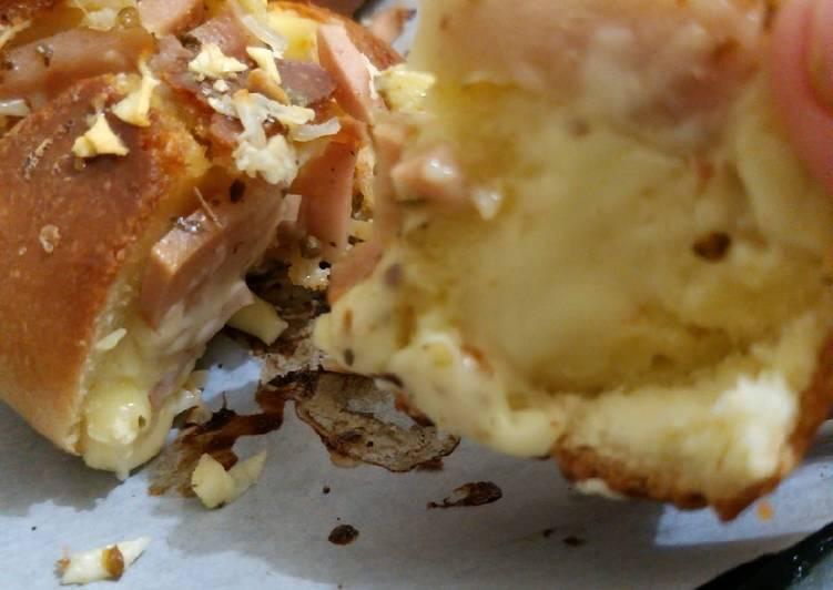 Korean garlic cheese bread (anti gagal)