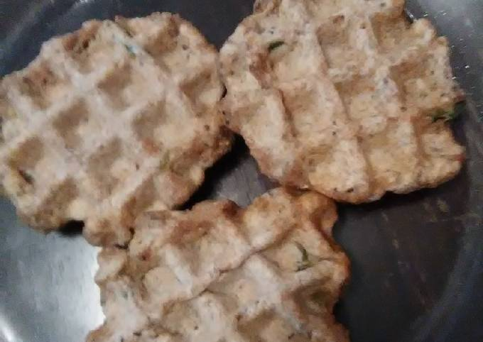 Vegan Whole Wheat Chia Seed Jalapeño Waffles
