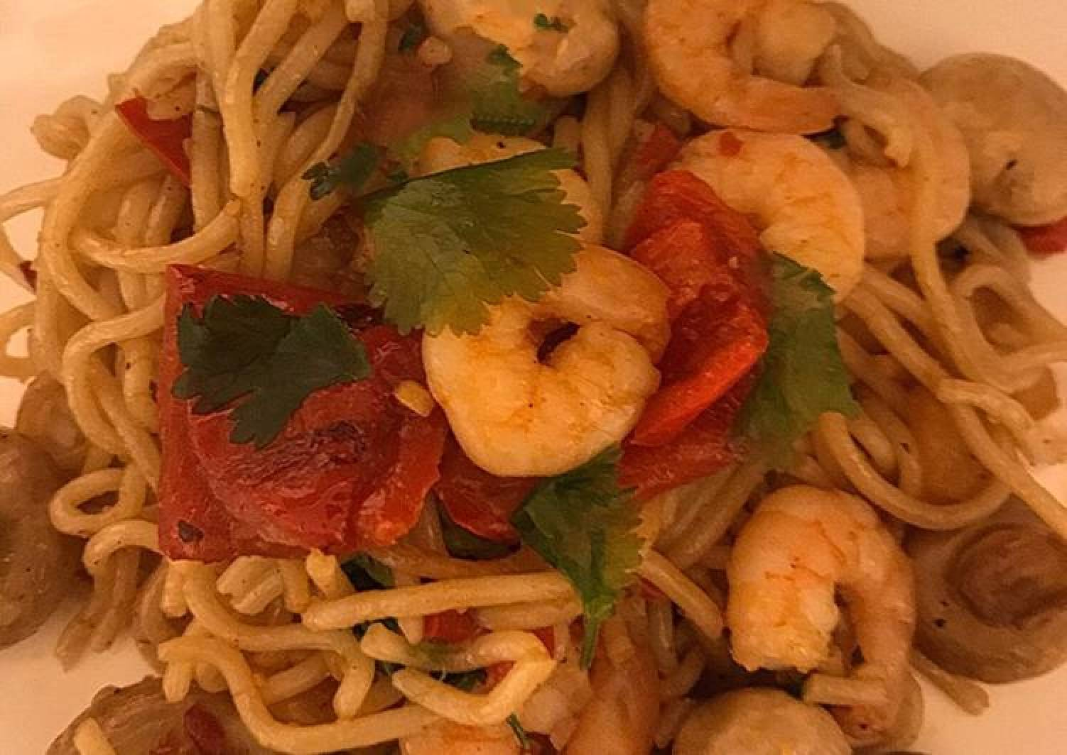 Prawn & Mushroom Noodles