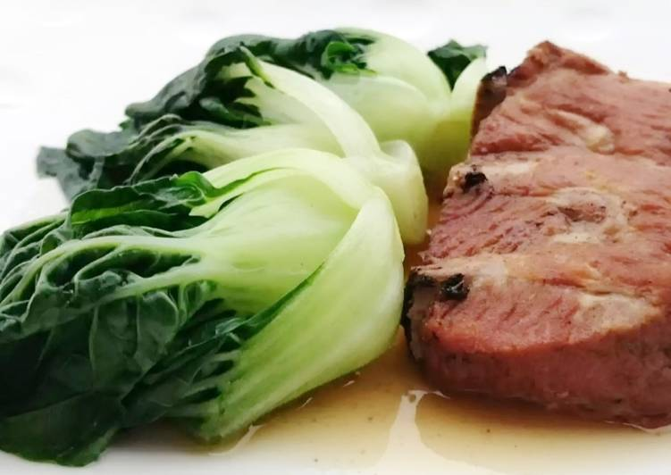 Baby Bak Choy With Canned Stew Pork