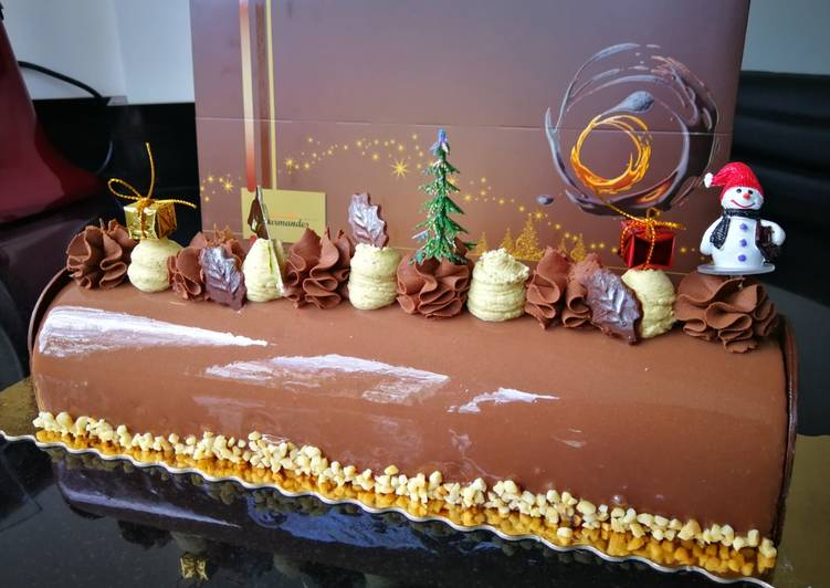 Bûche trois chocolats #dessertsdefete