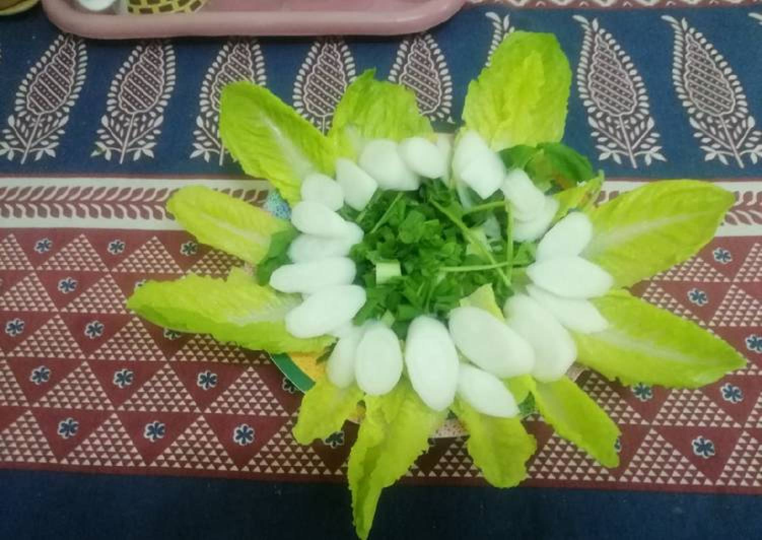 Salad Greens and Radish Bowl