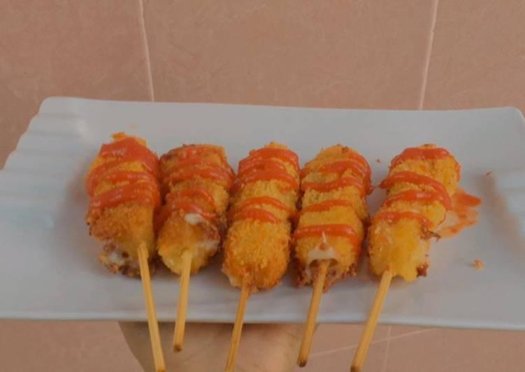 Mozzarella corn dog