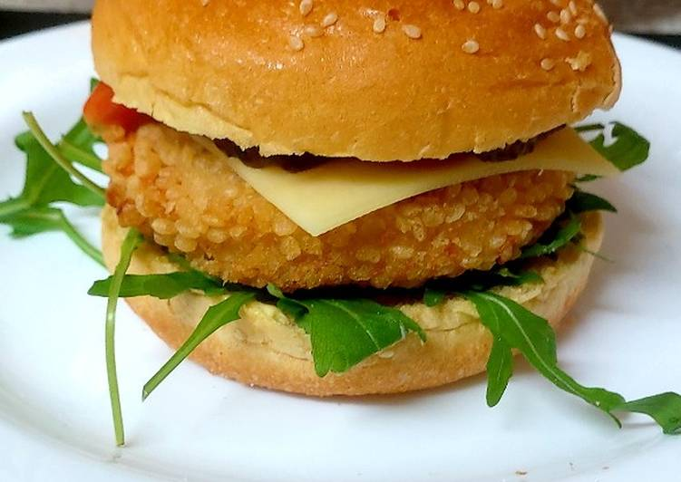 How to Make Quick A Lovely Sweet Chilli Chicken Burger 😉#Mainmeal#Lunch