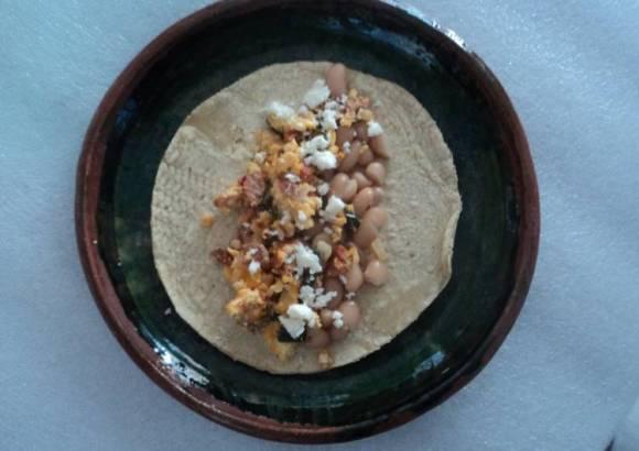 Taco ranchero de huevos a la mexicana las correa