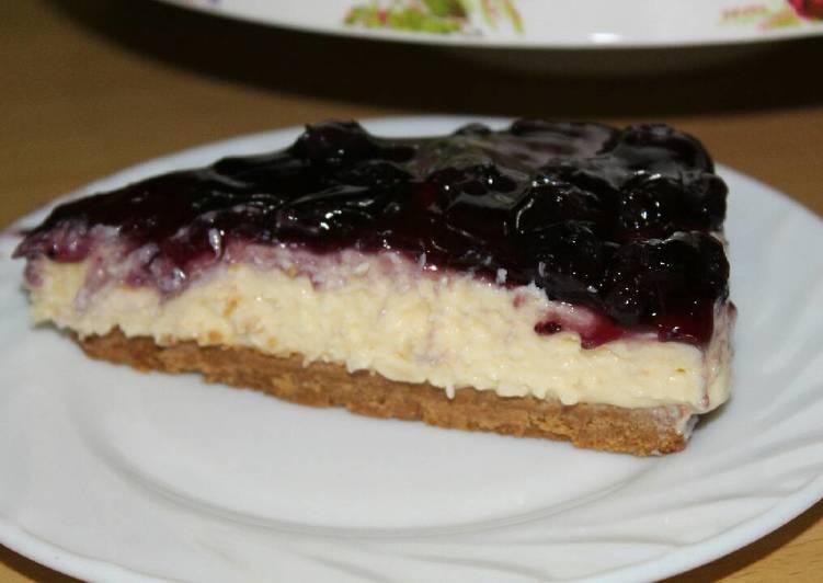 Blueberry cheese Cake no bake