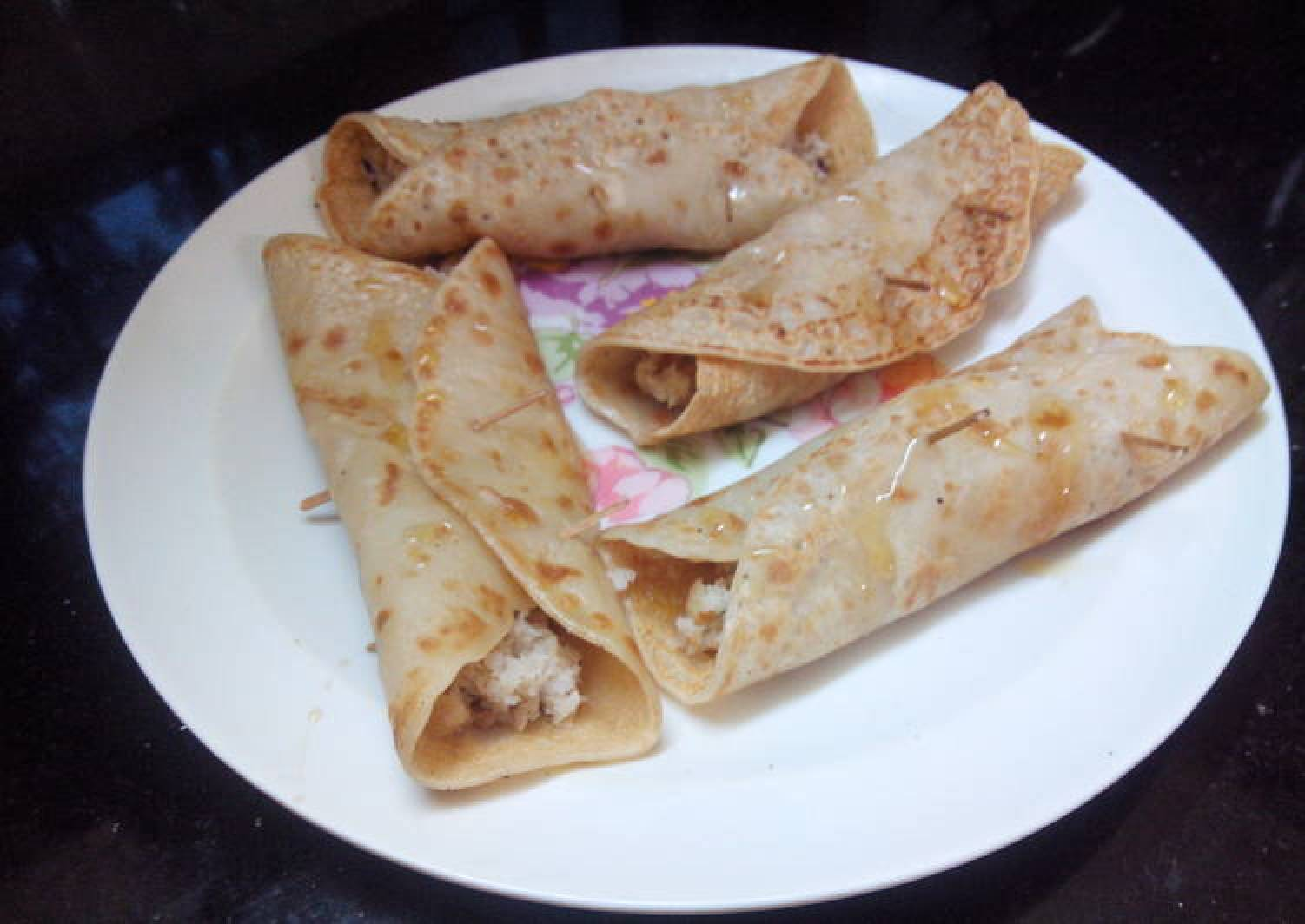 Patishaptha-A divine pancake with rich creamy nutty filling..Easy!