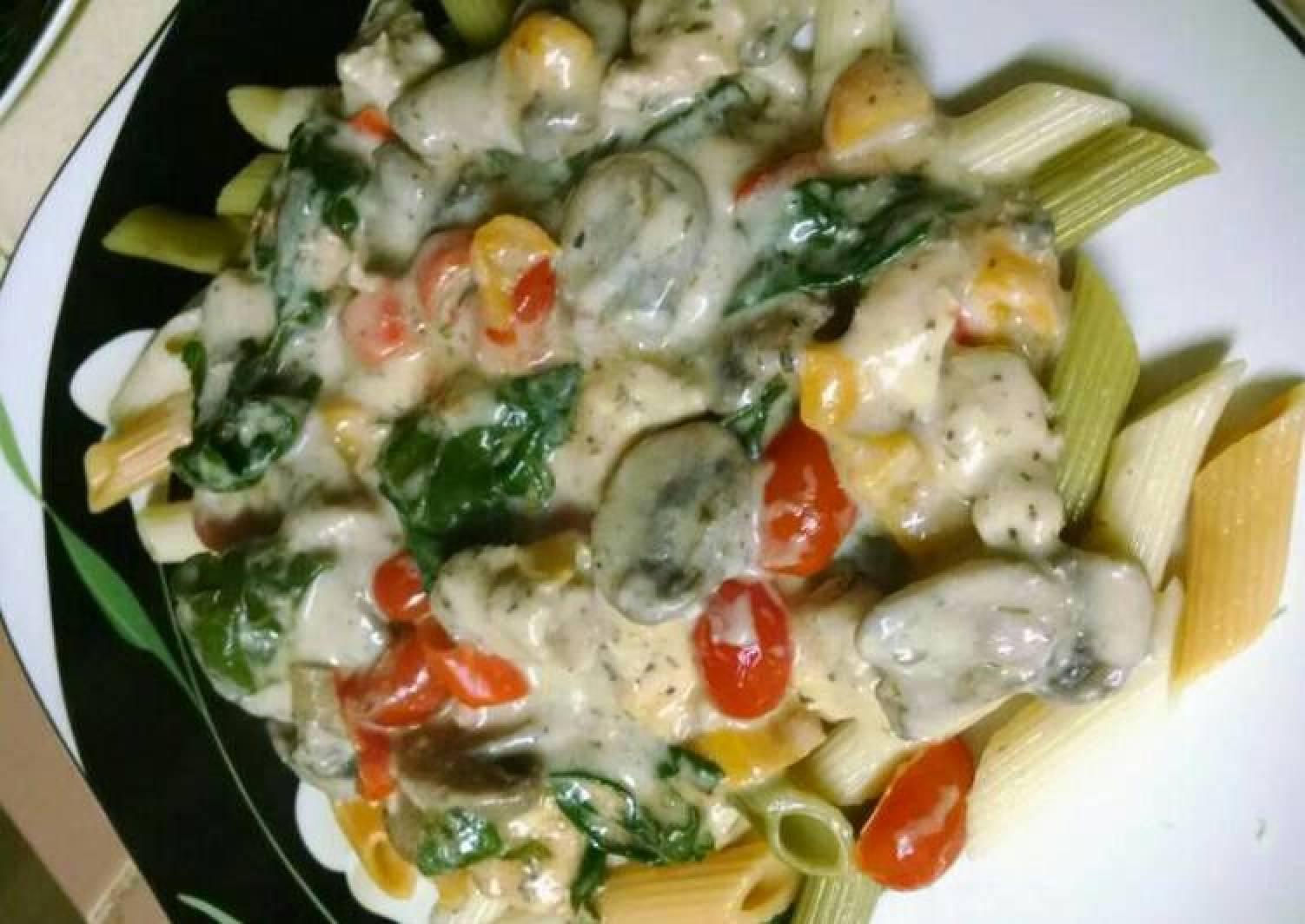 Chicken Vegetable Alfredo