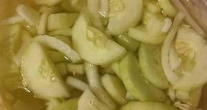 Old-fashioned Cucumbers  Onions in Vinegar Dressing