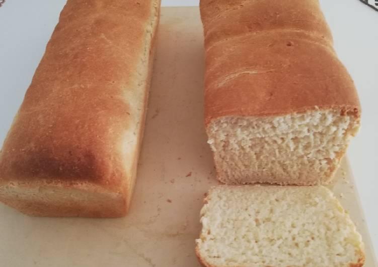 Pain de mie à la farine de manioc et de blé 🌾