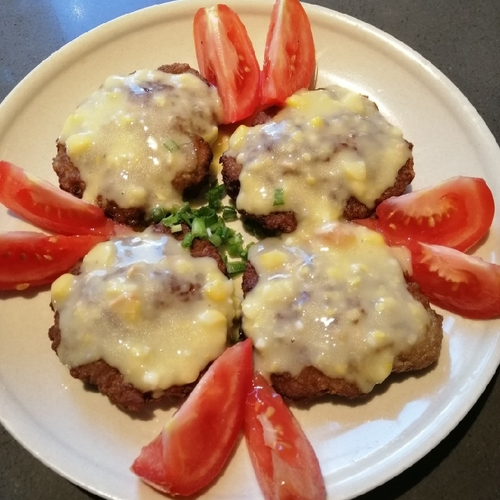 Beef Patties in White Sauce