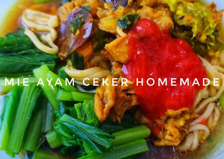 Mie Ayam Ceker Homemade