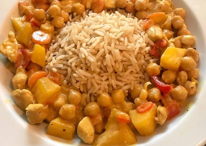Rezept Um Ultimative Kichererbsencurry mit Hähnchen & Mango zu machen