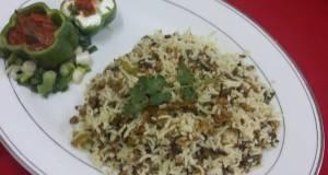 Spring Onion Kheema Biryani
