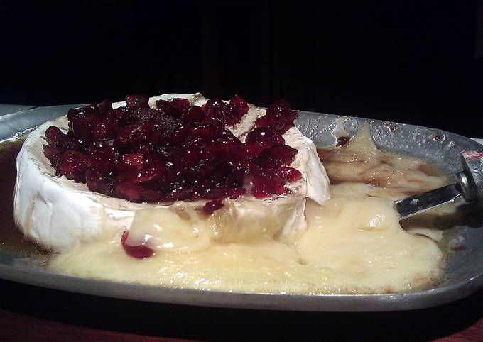 How to Make Homemade Baked Brie With Bourbon Cranberry Sauce