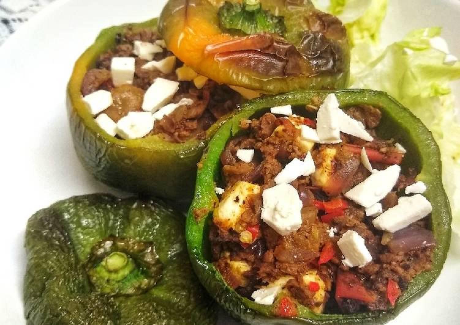 Stuffed Peppers With Feta (Vegetarian)