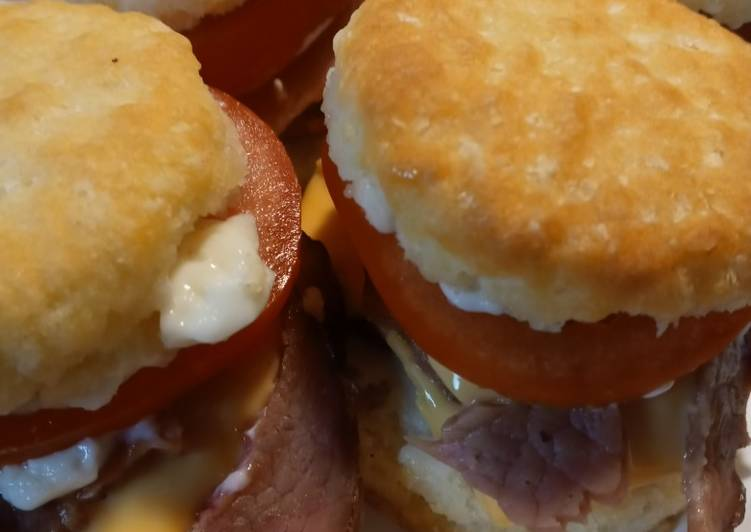 Leftovers Ham and Cheese Biscuits