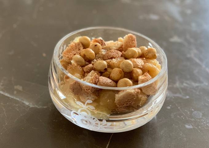 trin for trin guide til at forberede Brødrene Price Æblekage eller æbletrifli På