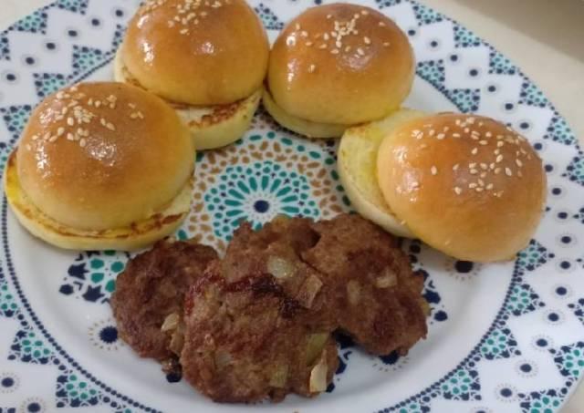 Beef patty burger