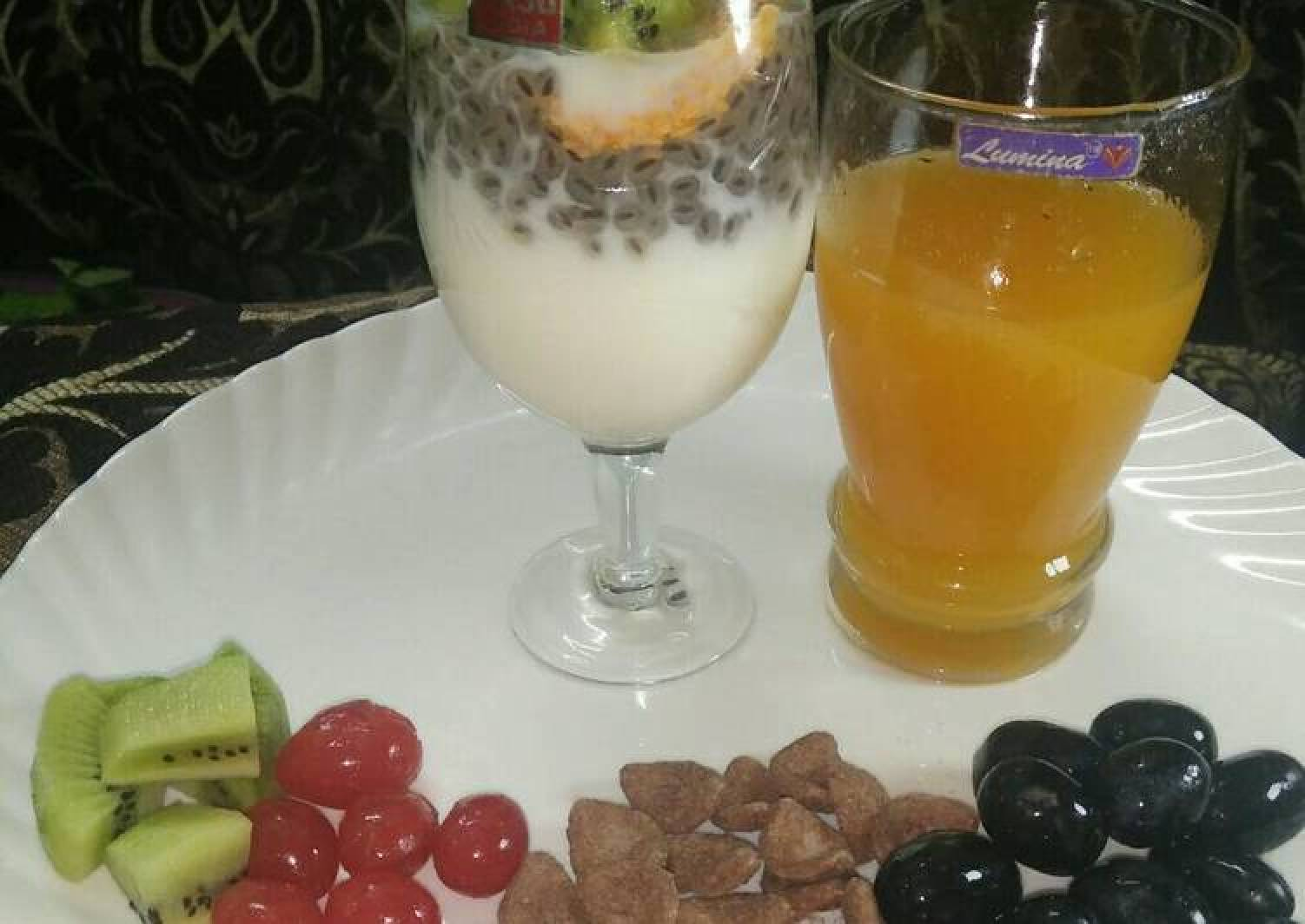 Healthy milk with oats