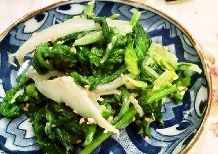 Nappa Cabbage and Mustard Green Ohitashi