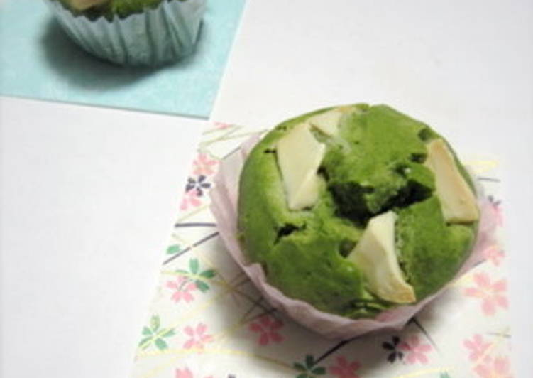 White Chocolate and Green Tea Muffins