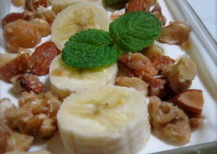 Banana and Caramel Nut Cake