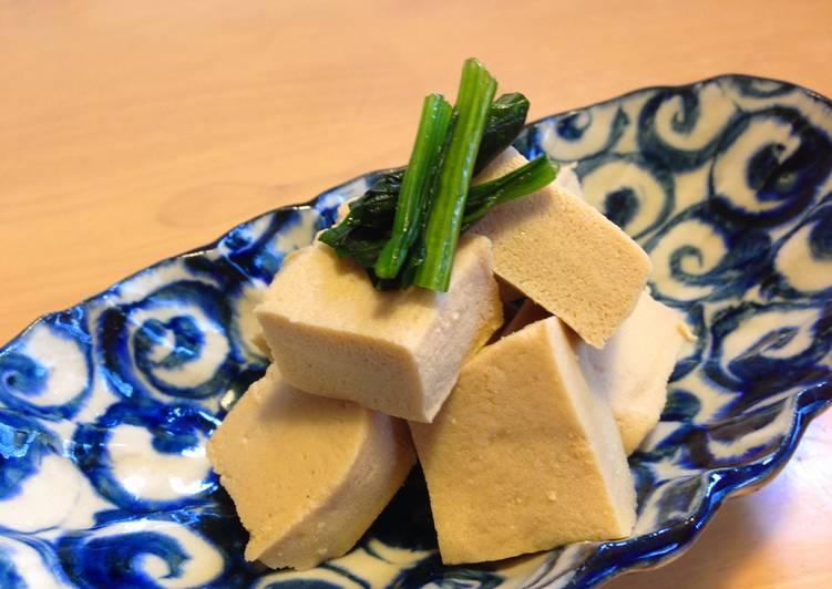 Simmered Koyadofu (Freeze Dried Tofu)