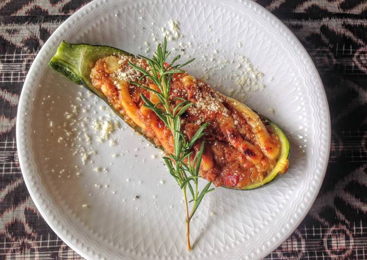 Grilled Zucchini with Miso Cheese