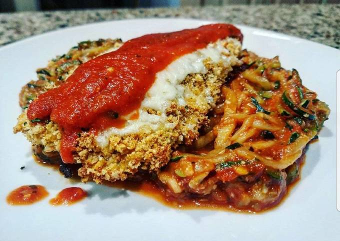 How to Prepare Favorite Chicken Parmesan with Zucchini Spaghetti (Low-Carb)