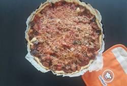 Recettes de cuisine Tarte aubergine, tomate et thon Délicieux