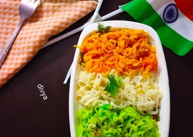 Tricolor noodles